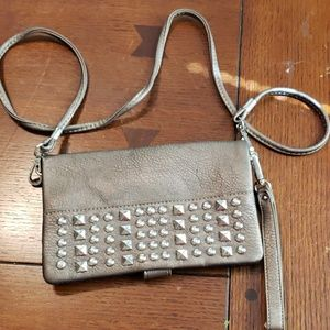 Rustic couture crossbody wallet